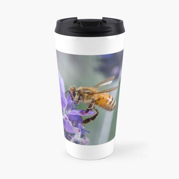 Lavendar flower with bee Travel Mug