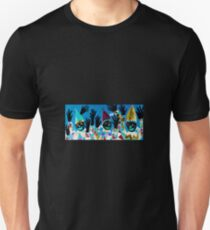 What Wonderful Worlds - Clowns with Many and Strange Hands - Small Dark T-Shirt