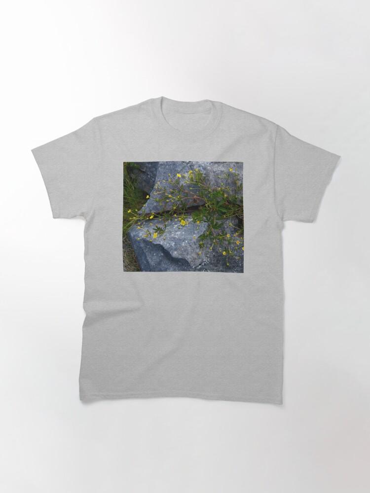 Alternate view of Tormentil, Dun Aengus, Inishmore, Aran Islands Classic T-Shirt