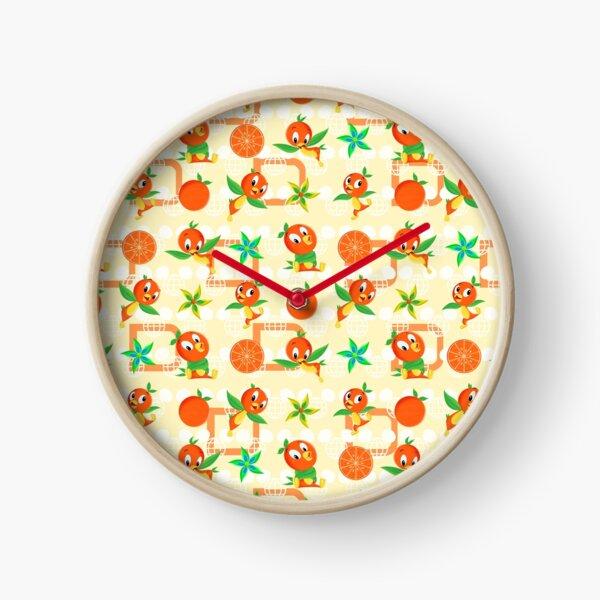Orange Bird Clock