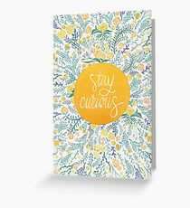 Stay Curious – Yellow & Green Greeting Card