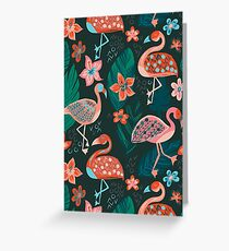 Flamingo Parade Greeting Card
