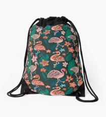 Flamingo Parade Drawstring Bag