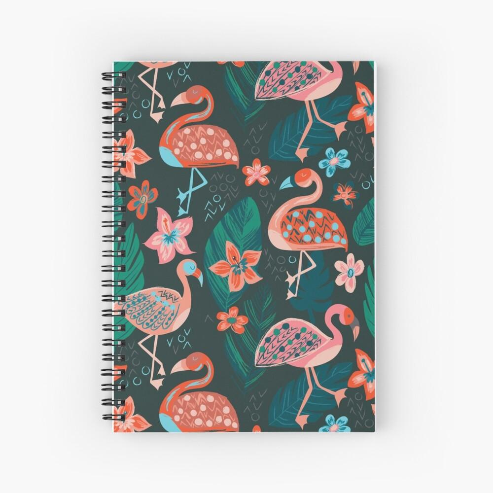 Flamingo Parade Cuaderno de espiral