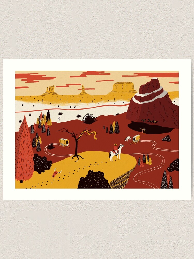 Alternate view of Way Out West Art Print