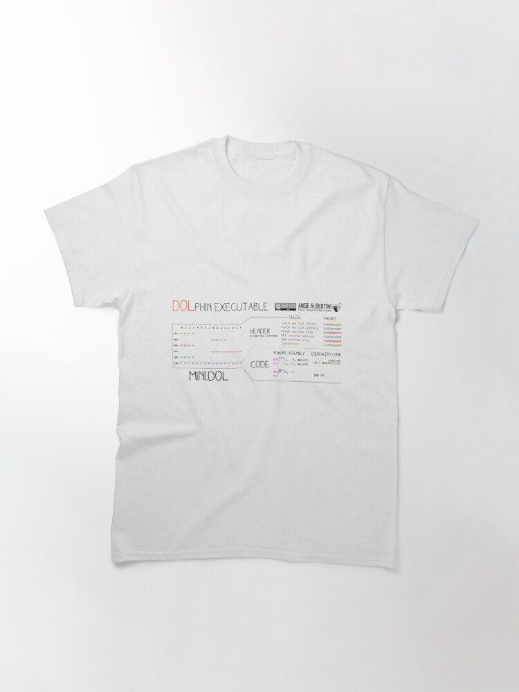 Alternate view of a mini DOLphin executable Classic T-Shirt