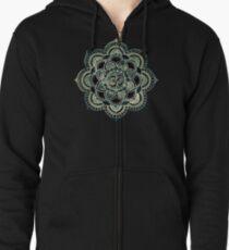 Sacred ohm symbol-dark Zipped Hoodie