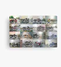 16 Classic British Motorcycles Metal Print