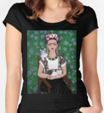 Frida cat lover Women's Fitted Scoop T-Shirt