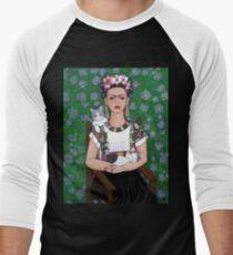 Frida cat lover Men's Baseball ¾ T-Shirt