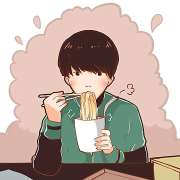 jungkook and ramen by Spirealle
