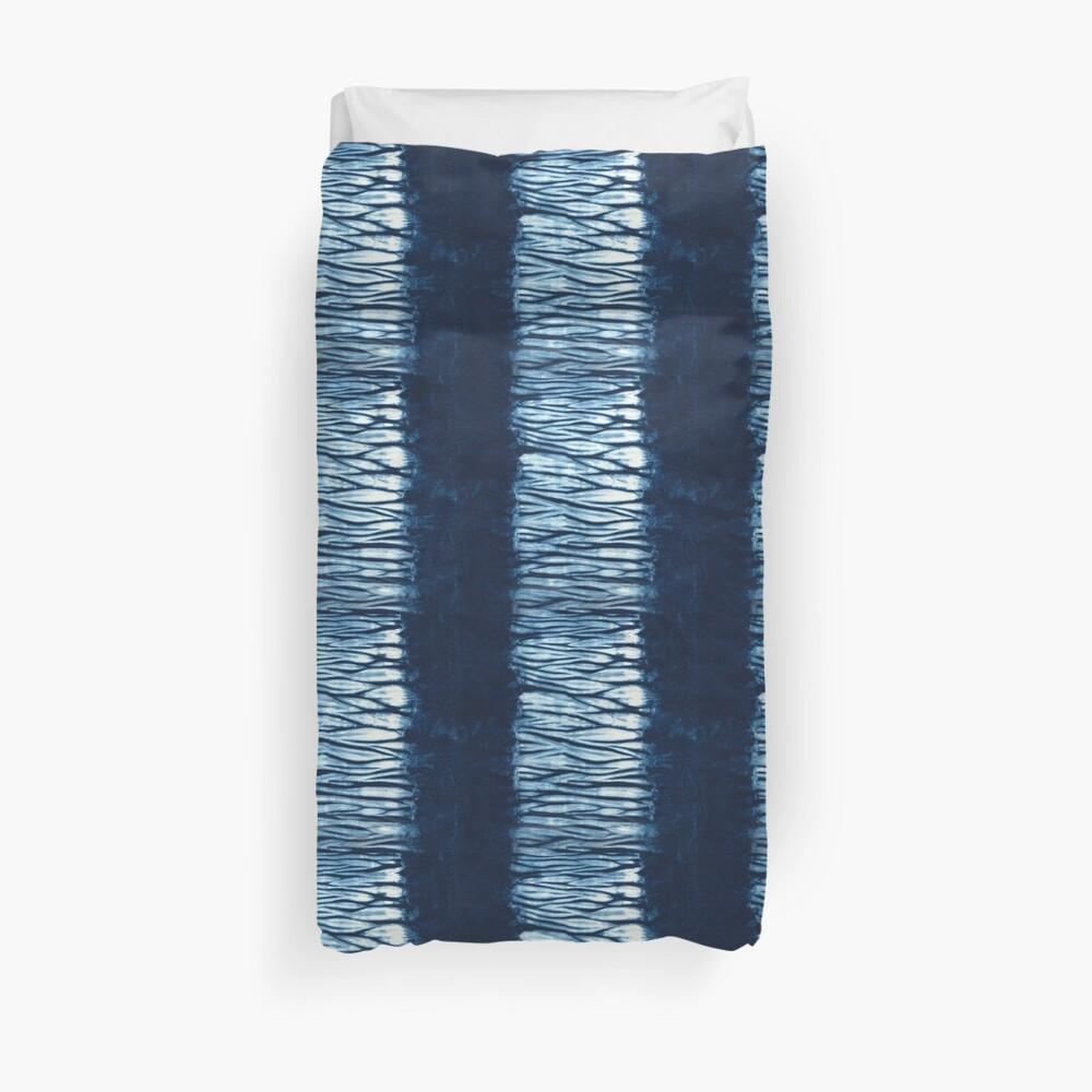 Indigo Blue japanische Shibori Tie Dye Bettbezug