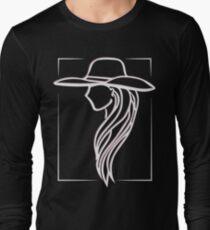 Joanne - Lady Gaga Pink Hat illustration Long Sleeve T-Shirt