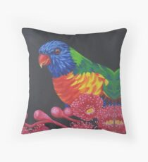 Rainbow Lorikeet Parrot #1 Throw Pillow