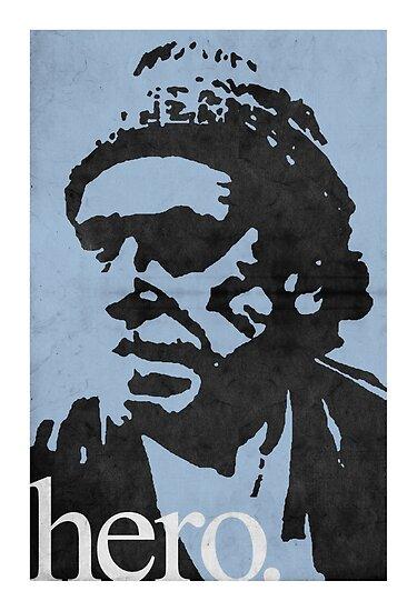 Hero - Charles Bukowski by 1974design