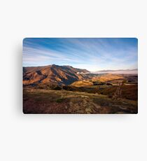 Crown Range Mountains, South Island Canvas Print
