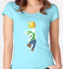 Luigi Paint Splatter Shirt Women's Fitted Scoop T-Shirt