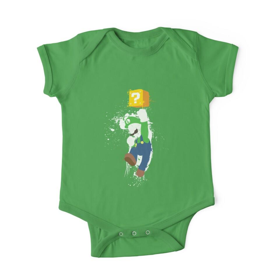 """""""Luigi Paint Splatter Shirt"""" e Piece Short Sleeve by"""