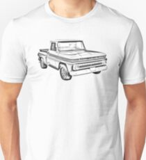 1965 Chevrolet Pickup Truck Illustration Unisex T-Shirt
