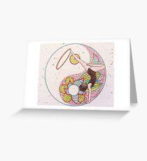 hula hooping girl Greeting Card