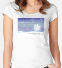 A Single Snowflake... Women's Fitted Scoop T-Shirt