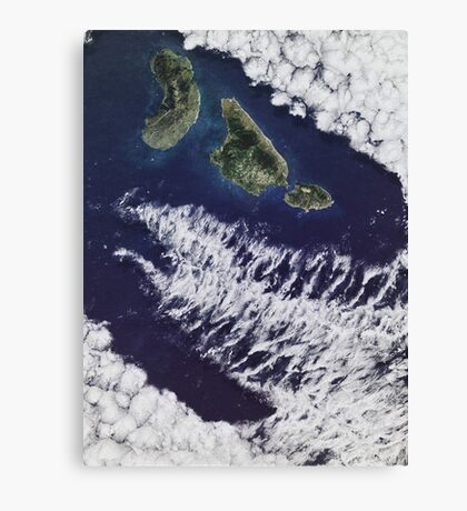 Jurassic Park Satellite Canvas Print