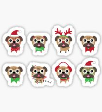 MERRY PUGMAS Sticker