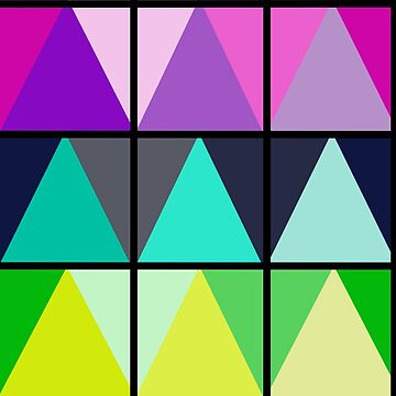 Color Block Geometric Triangles by LuciaJade