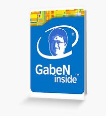 Lord GabeN Inside Greeting Card