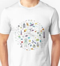 Space doodles Unisex T-Shirt