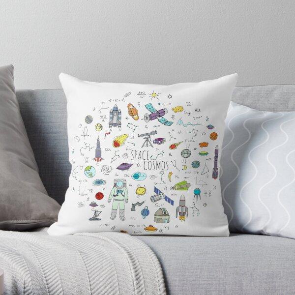Space doodles Throw Pillow