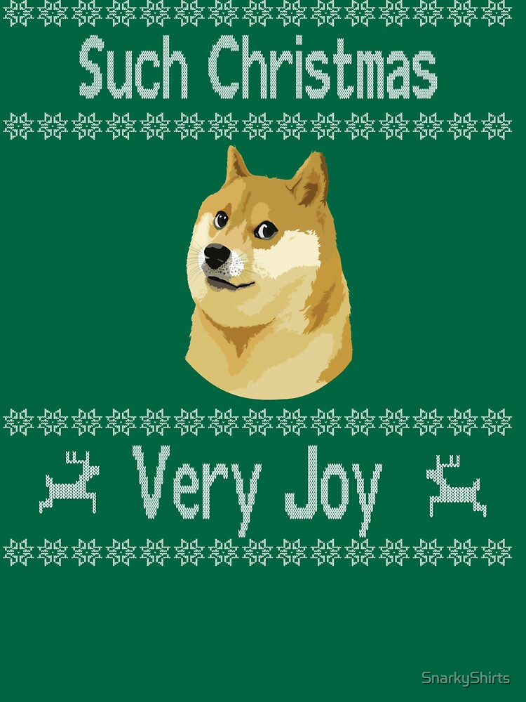 doge meme such christmas very joy ugly christmas sweater items by snarkyshirts - Christmas Doge
