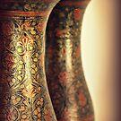 Brass vases by Karen Tregoning