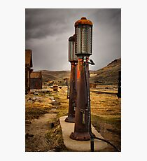 Old Gas Pumps Photographic Print