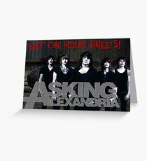 ASKING ALEXANDRIA TOUR 2016 GERRYISKANDAR GI FIVE Greeting Card