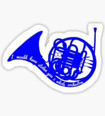 Blue French Horn (How I Met Your Mother) Sticker