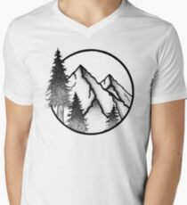 PNW Circle  V-Neck T-Shirt