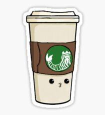 Kawaii Mermaid Coffee Sticker