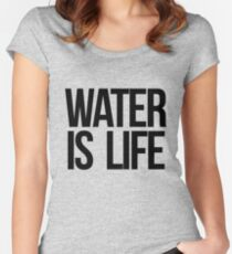 Water is Life Women's Fitted Scoop T-Shirt