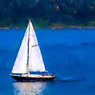 Sailing on the Columbia River, Oregon by Kay Martin