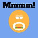 man eating hamburger by bruno1234