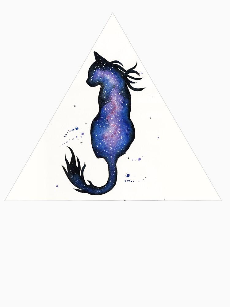 Purple Nebula Cat by creaturesofnat