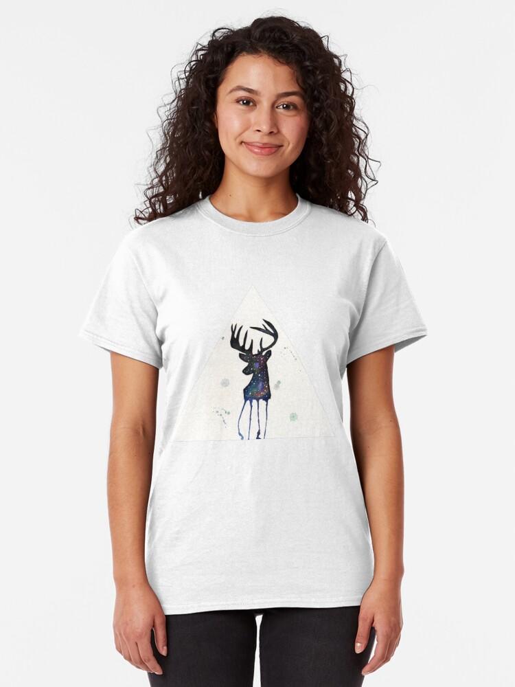 Alternate view of Spirit Nebula Stag Classic T-Shirt