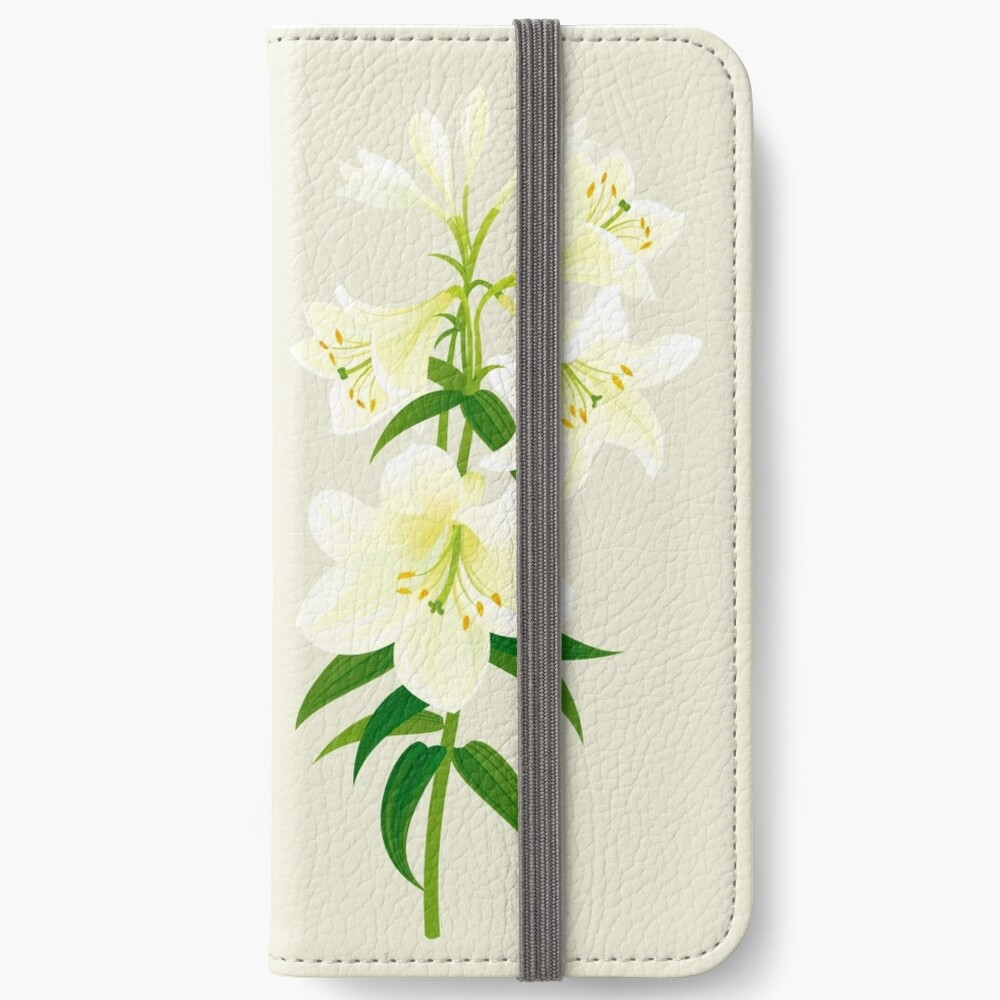 White Lily iPhone Wallet