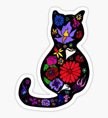 Flower Puss Sticker