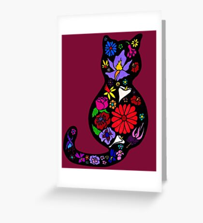 Flower Puss Greeting Card