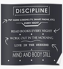 Daily Discipline Poster