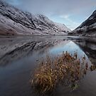 Winter Reflections of Glencoe by Angi Wallace