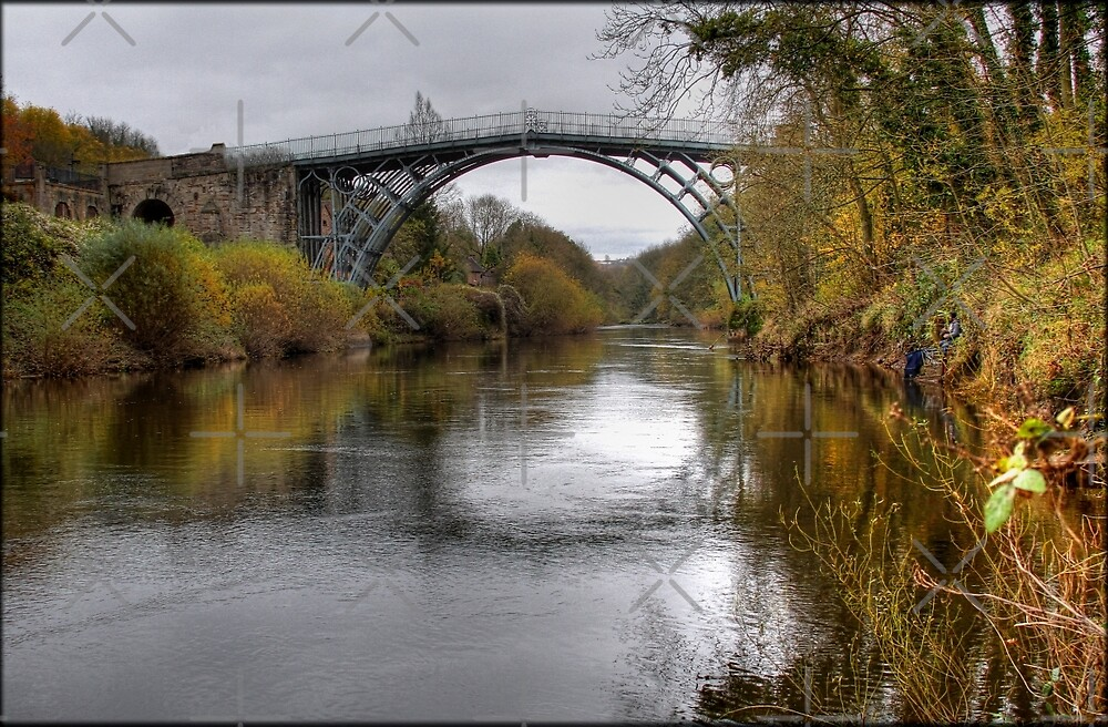 The bridge at Ironbridge by alan tunnicliffe