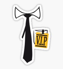 tie shirt pendant id tag necklace friends team logo member vip person important especially party shirt design motive cool celebrate boss Sticker
